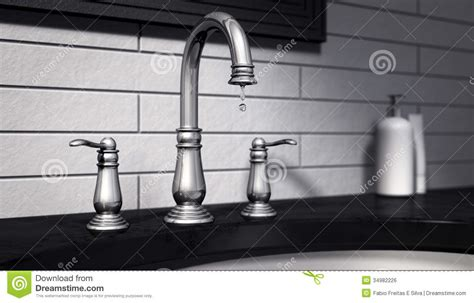 how to stop a faucet in kitchen tap stop wasting water royalty free stock image