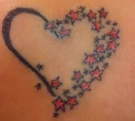 heart with stars tattoo design tattoobite com