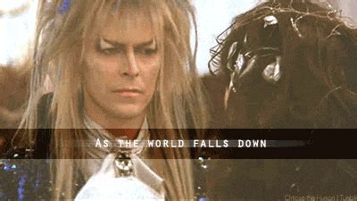 David Bowie Labyrinth Meme - as the world falls down labyrinth pinterest