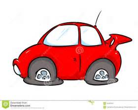 Car With Flat Tires Clipart Car Repairs Illustration Royalty Free Stock