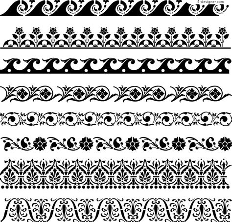 patterns black and white border design black and white pattern border cliparts co