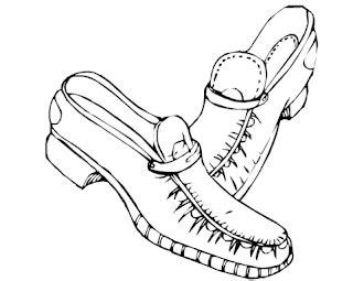 Sepatu Penari Balet mewarnai sepatu dengan warna yang cantik belajar mewarnai