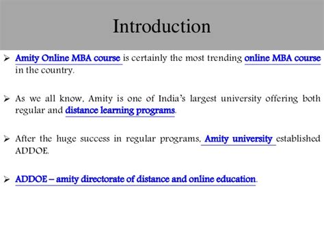 All Information About Mba Course by 10 Unique Facts Of Distance Mba Course From Amity