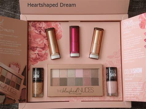 Maybelline Paket 2 heartshaped maybelline the blushed the falsies push up drama mascara