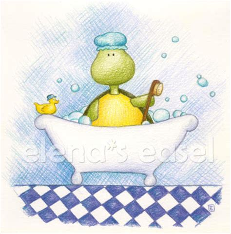 turtle in bathtub elena s easel turtle tot collection