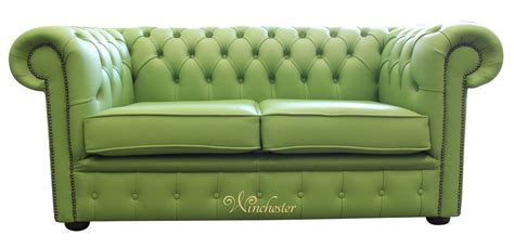 Green Leather Couches by Chesterfield 2 Seater Apple Green Leather Sofa Offer