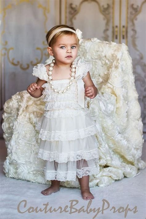Flowery Vintage Dress Anak Perempuan 2 3t vintage ivory ruffle lace dress ruffle dress