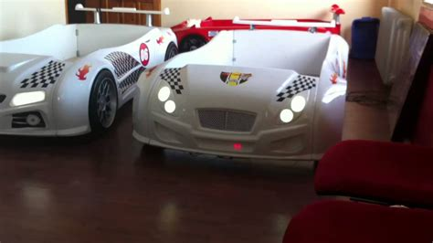 Real Looking Car Beds For Kids Youtube Size Car Bed Frame