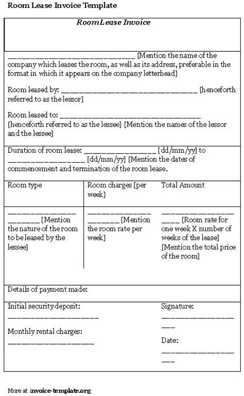 free room rental lease agreement template room for rent contract printable sle simple room