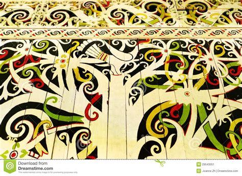 Tropical Wall Mural native borneo art wall hornbill mural stock image image