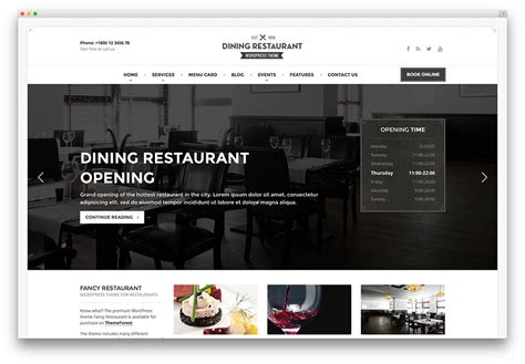 wordpress shop layout 30 best wordpress restaurant themes 2017 colorlib