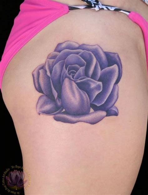 purple rose tattoos purple flower girlie tattoos
