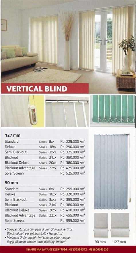 Harga Roller Blind Shinichi vertical blind shinichi