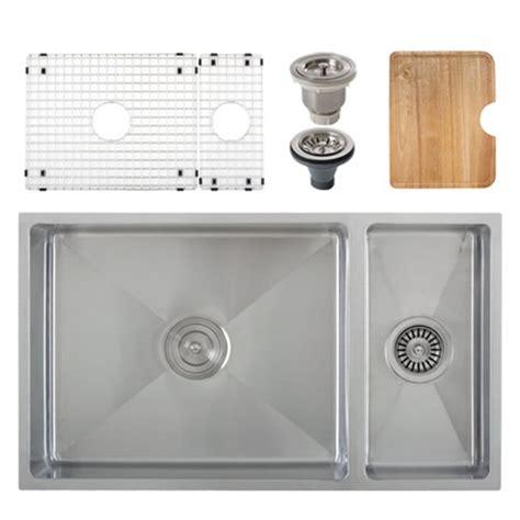 kitchen sink accessories ticor s6512 undermount 16 g tight radius stainless steel