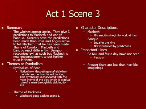 themes of macbeth act 1 scene 1 william shakespeare s macbeth ppt video online download