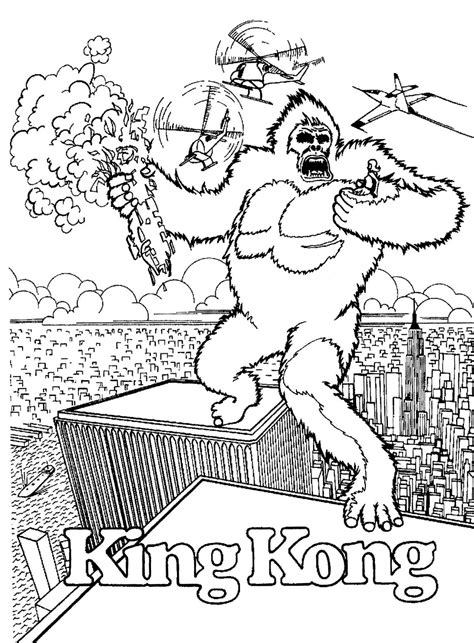 coloring pages king kong mostly paper dolls too april 2014