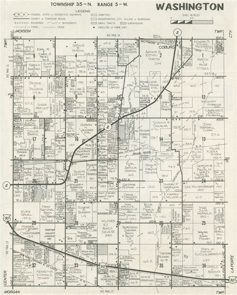 plat maps porter county indiana genweb township plat maps 1979