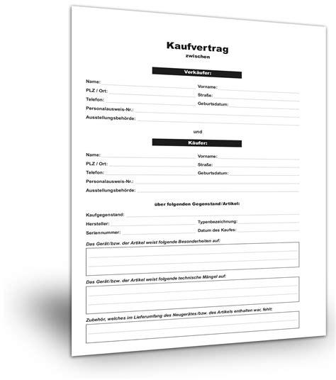 Kaufvertrag Auto Privat Muster by Kaufvertrag Standardvertraege De