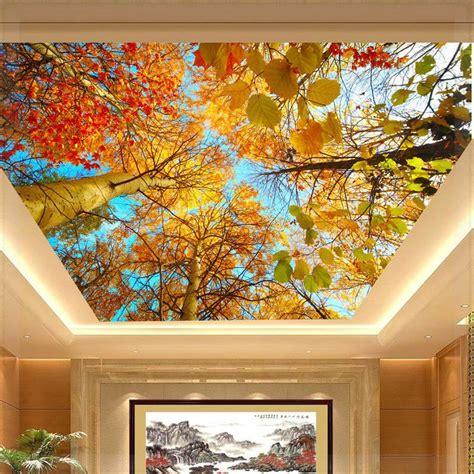 Ceiling Murals Wallpaper by Foto Mural Murais Teto Outono Grande Folha Papel