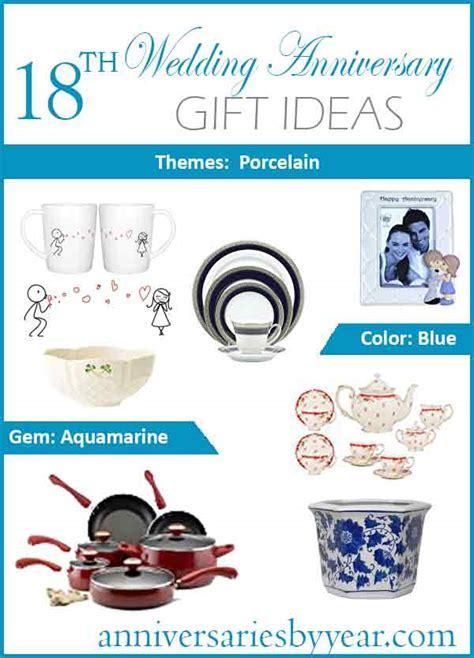 18th Anniversary   Eighteenth Wedding Anniversary Gift Ideas
