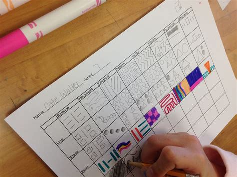 elements of arts principles of designs chart elements of arts principles of designs chart