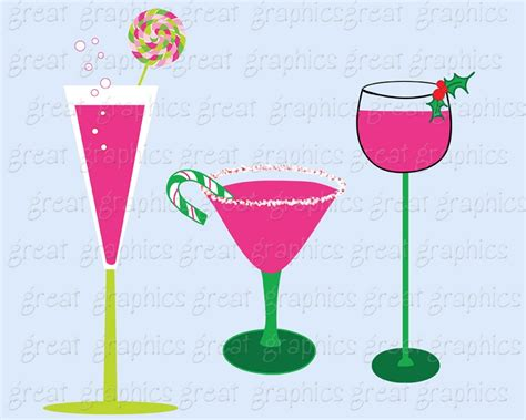 christmas cocktail party clipart printable preppy christmas cocktail clip art