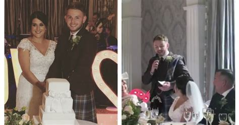wedding guest shocked when bride and groom demand more watch scottish groom shock guests as he sings his wedding