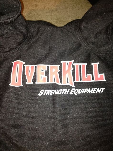 overkill bench shirt overkill fear the underdog