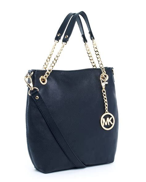 Mk New Tote Set 8880 michael kors jet set medium chain shoulder tote in black