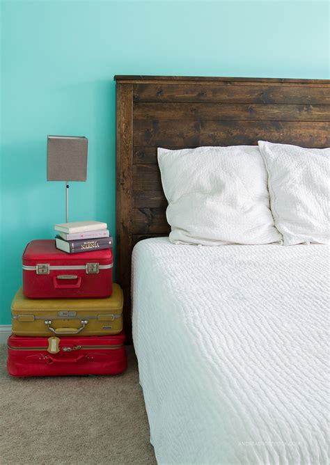 cover your own headboard how to make a diy rustic headboard