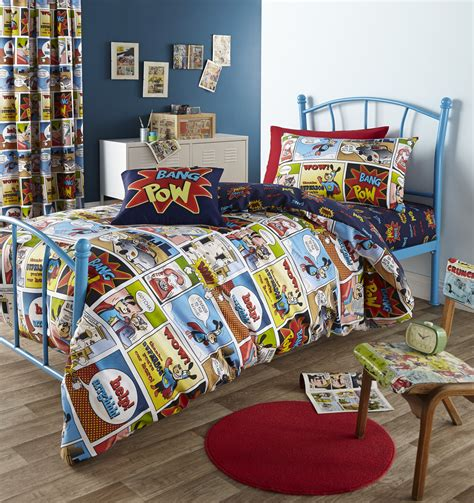 fun bedding retro cartoon strip bedding linen pop art bright fun comic