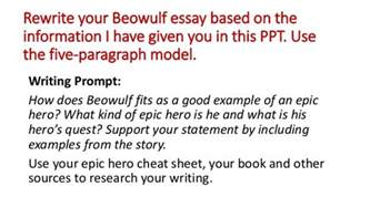 beowulf essay prompts writing lesson beowulf essay