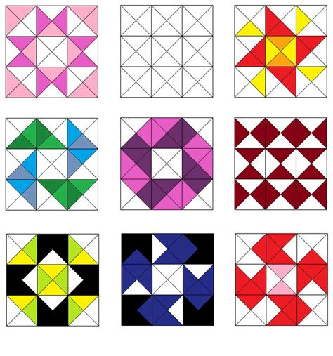 806 Best Images About Q Triangles Hst Diamonds On Pinterest Triangle Quilts Quilt And Block Triangulations Template Quilt Pattern