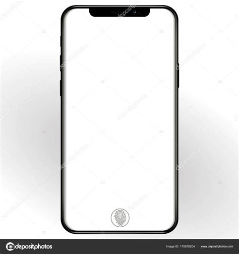 mobile view phone mobile smartphone mockup isolated on white