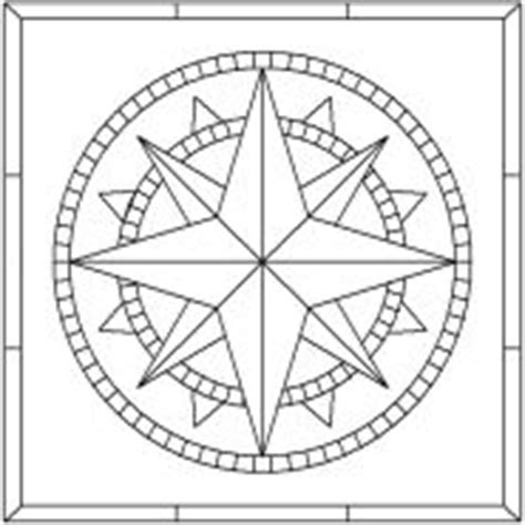 printable compass template free mosaic compass patterns