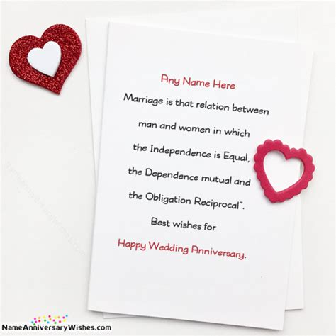 Wedding Anniversary Cards Free by Free Marriage Anniversary Card Images With Name