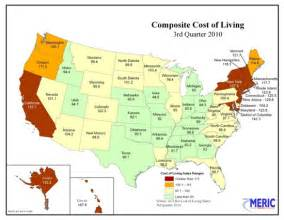 cheapest us states to live in most and least expensive states to live in
