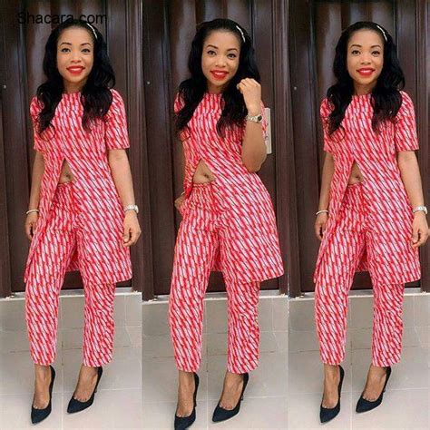 ankara designs for women trouser and jacket styles ankara long cape top and trouser styles