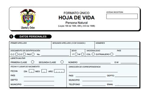 formato de hoja de vida 2015 formato hoja de vida colombia 2015 formato hoja de vida
