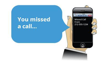 missed call notifications get notified of missed calls