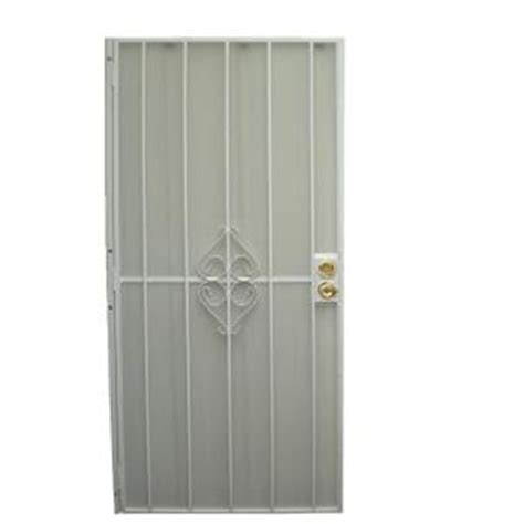 home depot grisham black white steel metal security