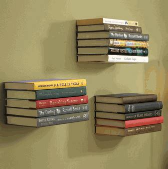upcycle us upcycling bookends into a floating bookshelf
