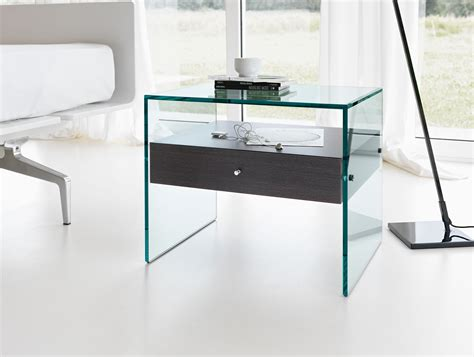 glass bedroom side tables nella vetrina tonelli secret modern italian designer