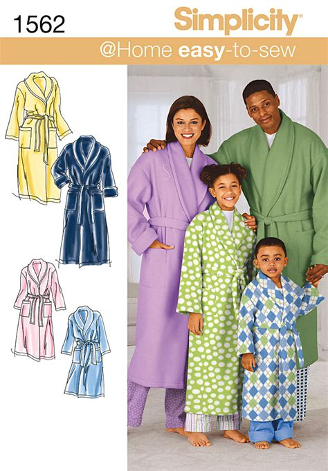 sewing patterns young adults simplicity 1562 child s teens and adults robe and belt