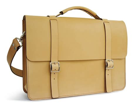 Handmade Briefcase - messenger bag grain leather basader