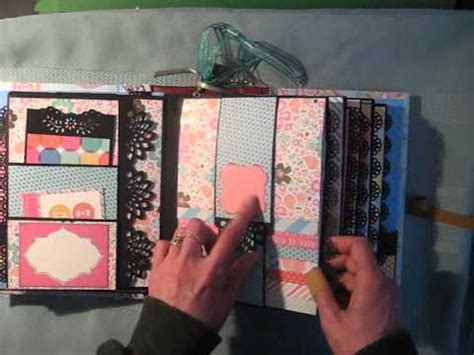 scrapbook tutorial videos waterfall scrapbook mini album tutorial available youtube