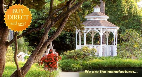 Handmade Gazebos - the best vinyl gazebo made in the usa amish country