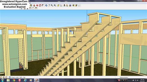 a frame building sketchup frame building construction youtube