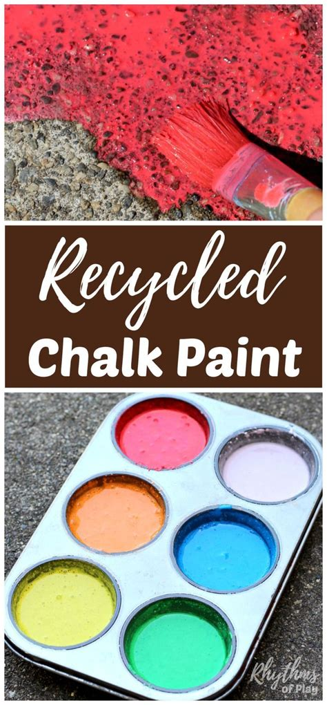 chalk paint process diy recycled chalk paint for outdoor sidewalk chalk