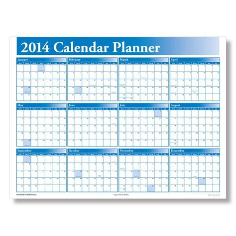 2014 Attendance Calendar To Print Wall Planners Small